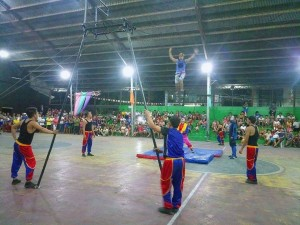 Acrobatic Show at Municipal Gymnasium