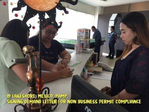 Annual Business Permit Inspection at Lakeshore